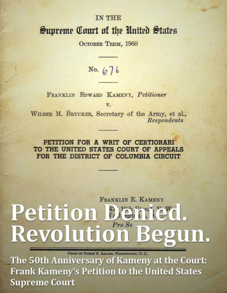 Petition denied, revolution begun