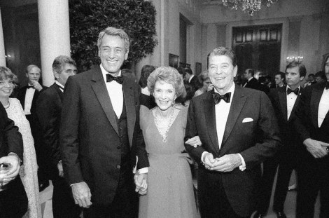 Rock Hudson with the Reagans, courtesy of the Reagan Library